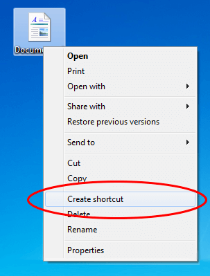 Create Windows Shortcut