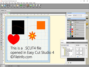 Screenshot of a .scut4 file in Easy Cut Studio 4